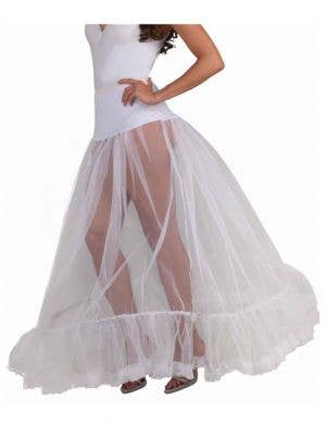 Floor Length Hooped White Petticoat