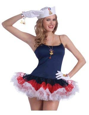 Lady in the Navy Slip Dress Women's Sailor Costume