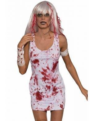 Blood Splattered Women's Zombie Costume
