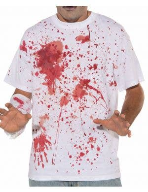 Blood Splattered T-Shirt Men's Halloween Costume