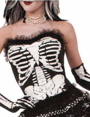 Skeleton Print Women's Costume Corset