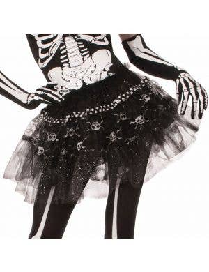 Bone Print Black Glitter Tutu