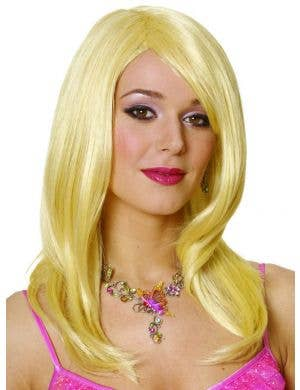 Sharon Women's Long Blonde Costume Wig
