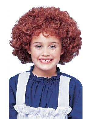 Orphan Annie Girls Red Curly Costume Wig