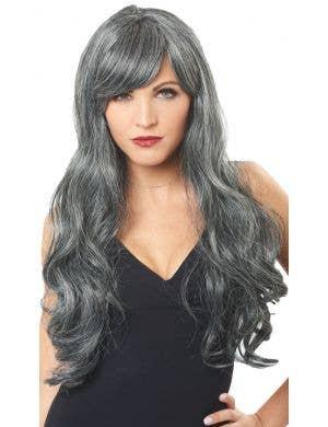 Dreadful Grey and Black Women's Halloween Costume Wig