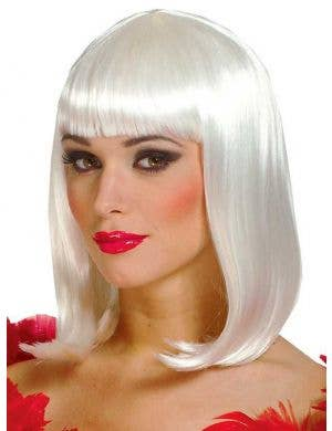 Peggy Sue Women's Deluxe White Bob Costume Wig
