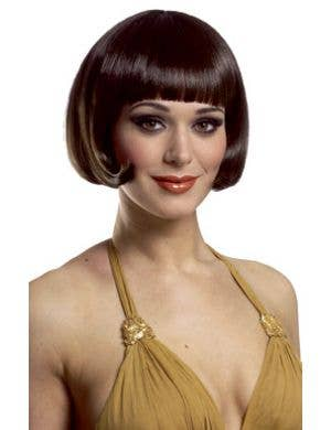 Sassy Short Brown Bob Women's Wig with Fringe