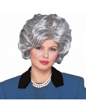 Classy Old Lady Grey Costume Wig