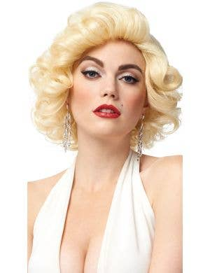 Deluxe Blonde Bombshell Women's Short Curly Costume Wig