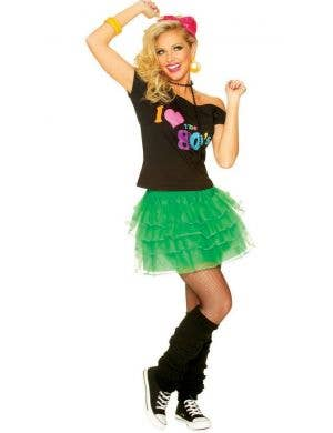 1980's Bright Green Women's Ra Ra Petticoat