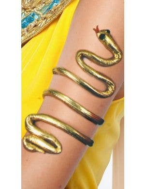 Cleopatra Gold Asp Wrap Around Arm Band Costume Accessory