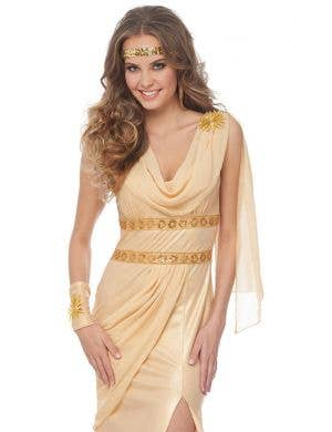 Golden Sun Goddess Women's Fancy Dress Costume