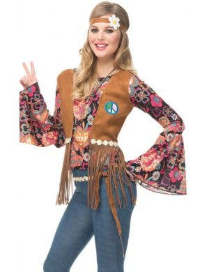 Peace Out Hippie Women's Fancy Dress Costume