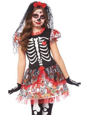 Day of the Dead Girls Halloween Dress Up Costume