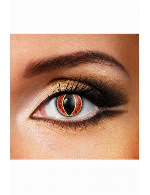 Sauron Fiery Orange Single Wear Contact Lenses