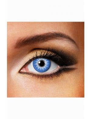 Ice Blast One Day Wear Blue Contact Lenses