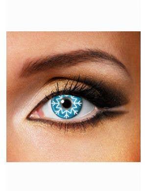 Frozen Snowflake Blue Single Wear Contact Lenses