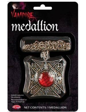 Vampire Medallion Halloween Costume Accessory