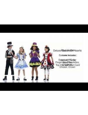 Queen of Hearts Deluxe Girls Costume