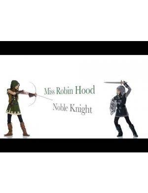 Noble Knight Girls Fancy Dress Costume