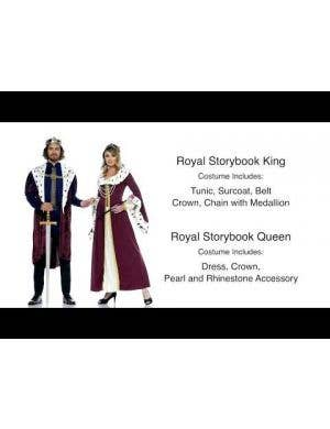 Royal Storybook Queen Women's Costume