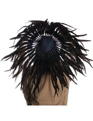American Indian Chief Authentic Black Feather Headdress