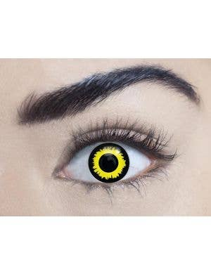 Wolf Eye 90 Day Wear Yellow Halloween Contact Lenses