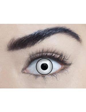 Manson White 90 Day Wear Costume Contact Lenses
