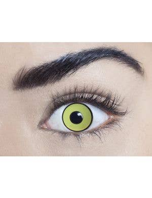Mal Chick Yellow 90 Day Wear UV Reactive Contact Lenses
