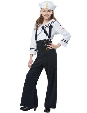 Black Navy Sailor Uniform Girls Costume