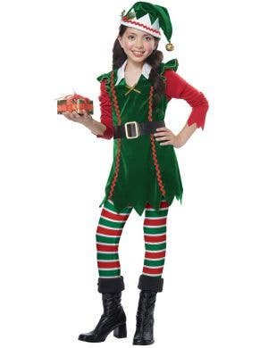 c5f75a3d92589 ... Festive Elf Girl s Christmas Fancy Dress Costume