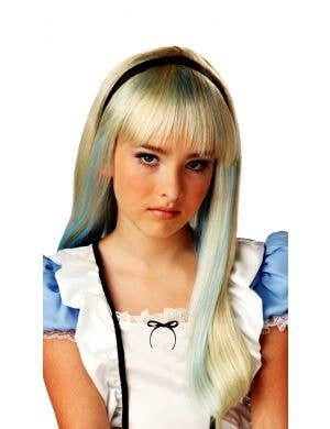 Alice in Wonderland Girl's Long Blonde Costume Wig
