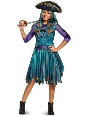 Uma Descendants 2 Girl's Disney Teal Pirate Costume