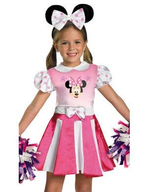 Minnie Mouse Cheerleader Girls and Toddler Costume