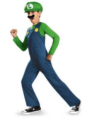 Luigi Officially Licensed Super Mario Bros Boys Costume