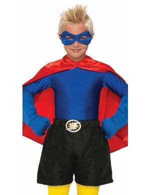Superhero Kid's Black Boxer Shorts Costume Accessory