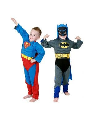 Reversible Superman to Batman Boys Superhero Costume