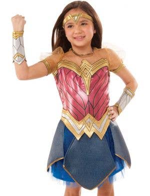 Wonder Woman Deluxe Girls Fancy Dress Costume