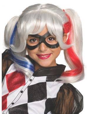 Harley Quinn Girl's Book Week Costume Wig