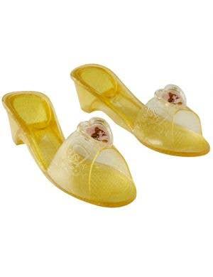 Disney Princess Belle Girl's Golden Glitter Costume Shoes