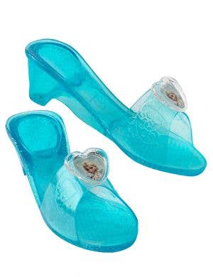 Officially Licensed Frozen Girl's Elsa Blue Jelly Costume Shoes