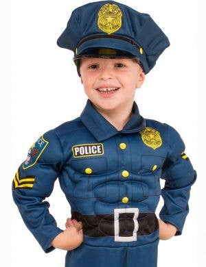 Top Cop Boys Muscle Chest Fancy Dress Costume