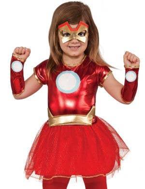 Iron Rescue Girls Marvel Iron Man Superhero Costume