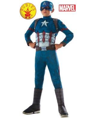Civil War Captain America Boys Fancy Dress Costume