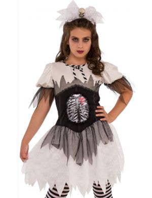 Gothic Skeleton Teen Girls Halloween Costume
