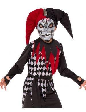 Creepy Evil Jester Boys Halloween Costume