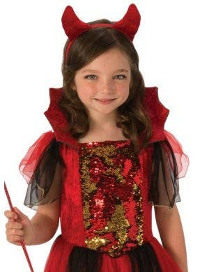 Colour Magic Girls Devil Halloween Costume