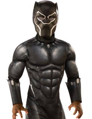 Avengers Boy's Black Panther Muscle Chest Costume