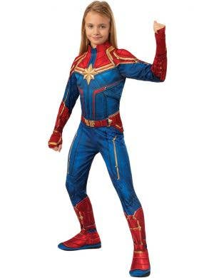 Captain Marvel Avengers Girls Superhero Fancy Dress Costume
