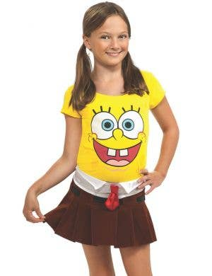 Spongebabe Girls Spongebob Fancy Dress Costume